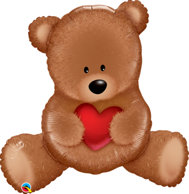 Qualatex Supershape Foil Balloon Teddy Bear Love 35''
