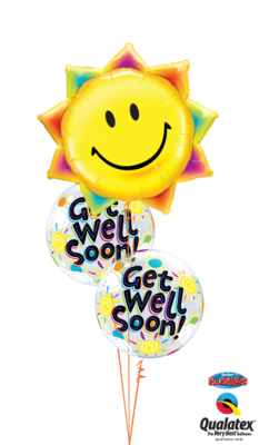 Sunny Well Wishes Balloon Bouquet