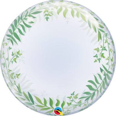 Elegant Greenery Bubble Balloon
