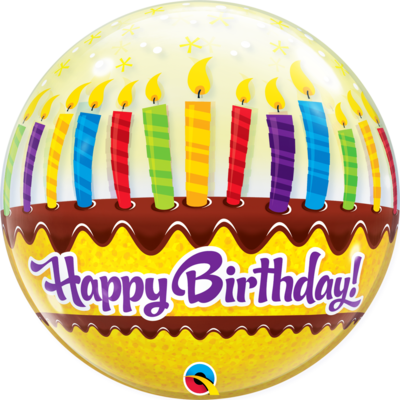 Birthday Candles & Frosting Bubble Balloon