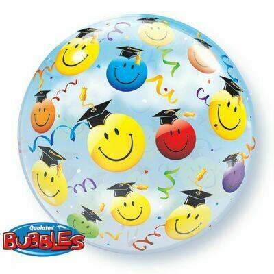 Grad Smile Faces Bubble Balloon