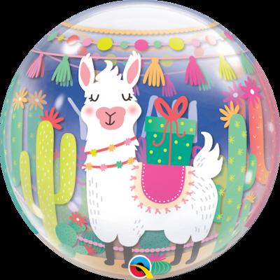 Llama Birthday Party Bubble Balloon