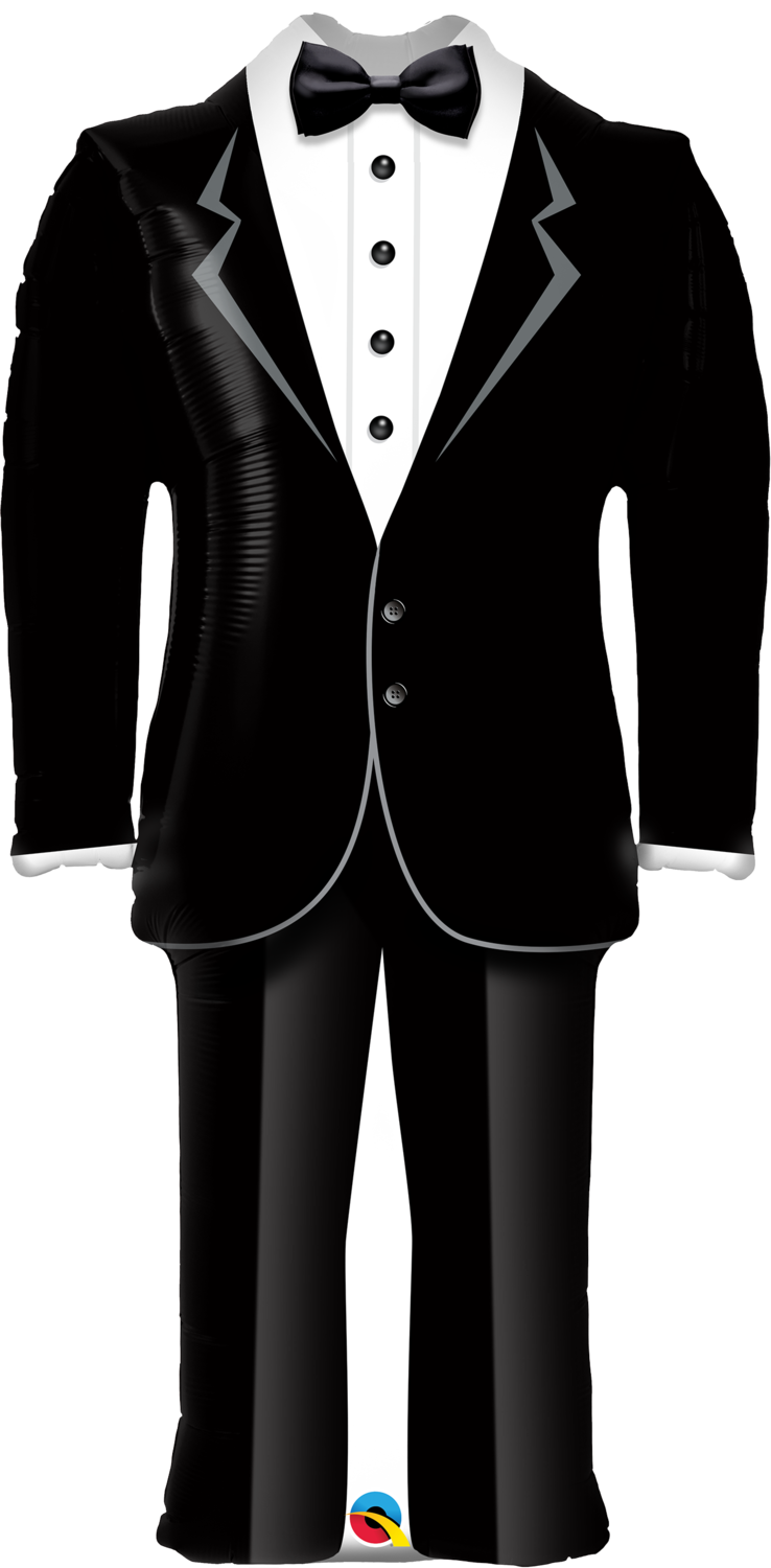 Qualatex Supershape Foil Balloon Groom's Tuxedo 39''