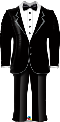 Qualatex Supershape Foil Balloon Groom's Tuxedo 39''