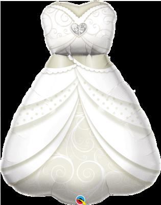 Qualatex Supershape Foil Balloon Bride's Wedding Dress SW 38''