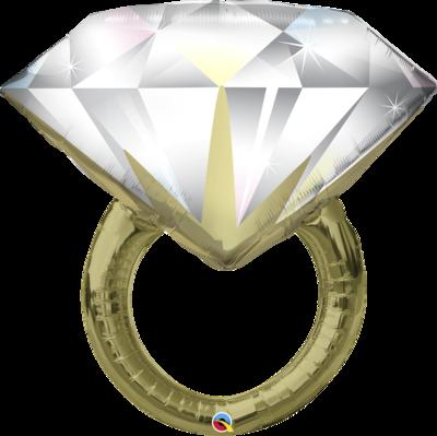 Qualatex Supershape Foil Balloon  Diamond Wedding Ring 37''