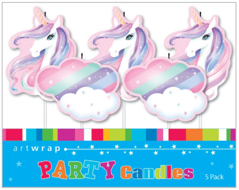 5 Unicorn Princess Cake Birthday Candles
