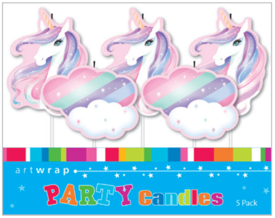 5 Unicorn Princess Cake Birthday Candles