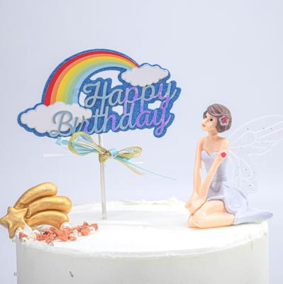 Cake Topper Happy Birthday Rainbow