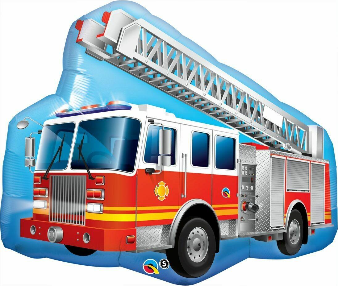Qualatex Supershape Foil Balloon Red Fire Truck 36''