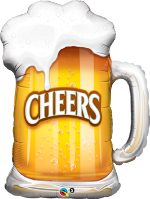 Qualatex Supershape Foil Balloon Cheers! Beer Mug 34''