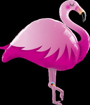 Qualatex Supershape Foil Balloon Pink Flamingo 46''