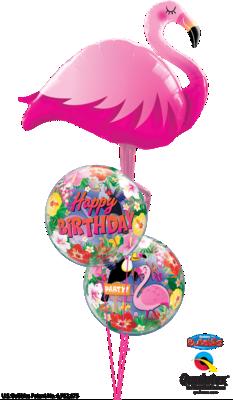 Flamingo Birthday Bash Balloon Bouquet