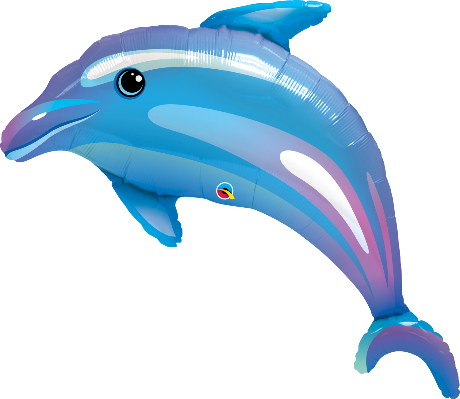 Qualatex Supershape Foil Balloon Delightful Dolphin 42''