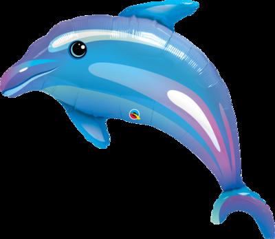 Qualatex Supershape Foil Balloon Delightful Dolphin 42''