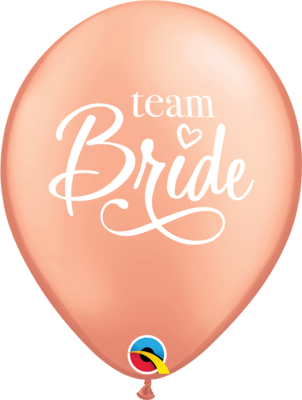 Team Bride Rose Gold 30 cm Helium Latex Balloon
