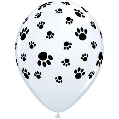 Paw Prints 30 cm Helium Latex Balloon