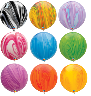 30 inch/76 cm Super Agate Latex Balloons Latex Balloon
