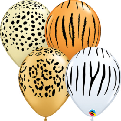 Safari Assortment 30 cm Helium Latex Balloon