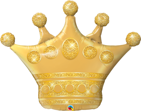 Qualatex Supershape Foil Balloon Golden Crown 41''
