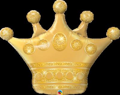 Qualatex Supershape Foil Balloon Golden Crown 41''