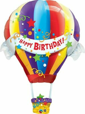 "Birthday Hot Air Balloon 42""/107 cm"