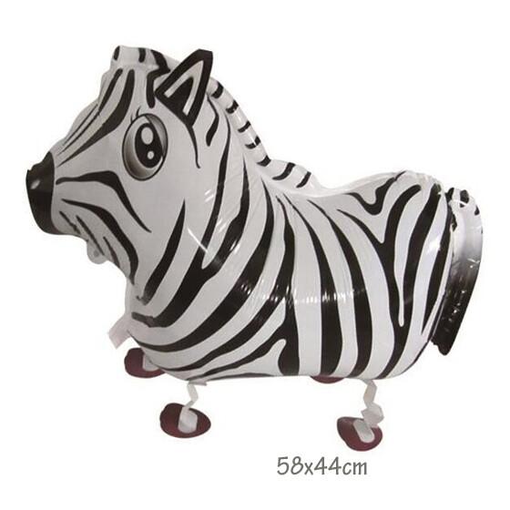 Helium Walking Pet Animal Balloon Zebra