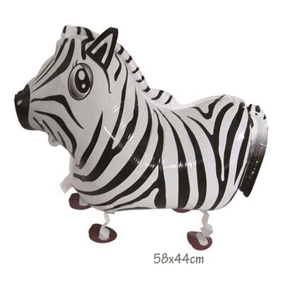 Helium Walking Pet Animal Balloon Zebra