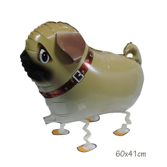 Helium Walking Pet Animal Balloon Pug
