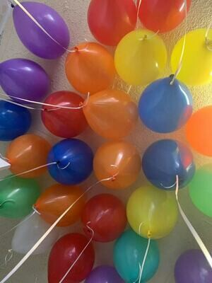 100 Ceiling Solid Colour Helium Balloons