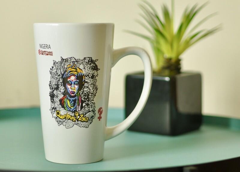 White Queen Amina Of Zaria mug 16oz.