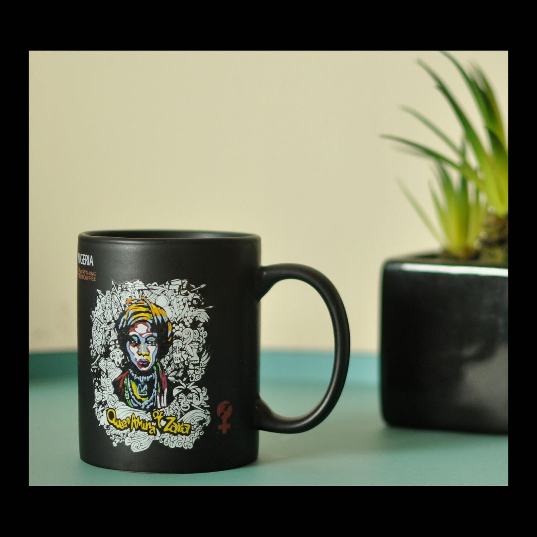 Black Queen Amina of Zaria Mug 12oz.