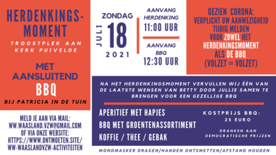 Herdenking / Drink / BBQ - Zomer 2021