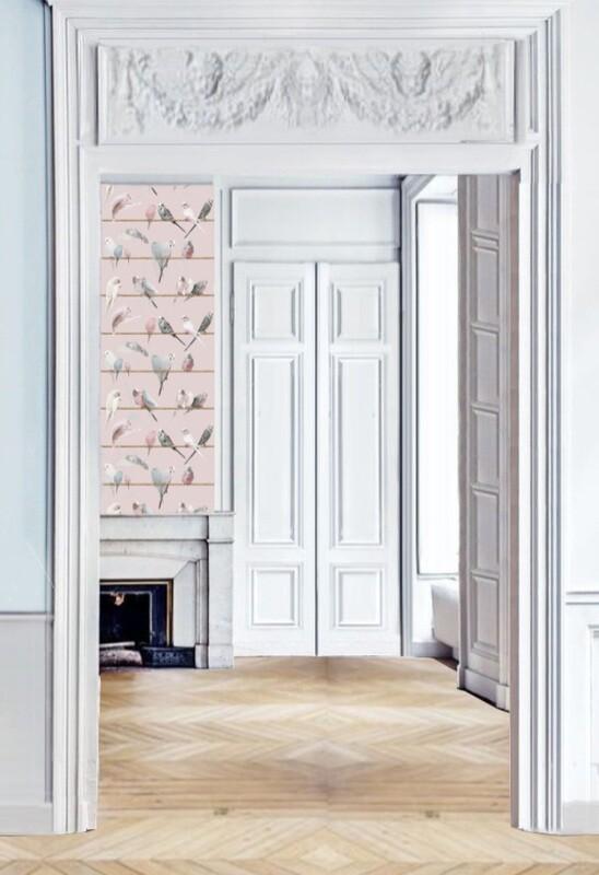 Koziel Handcraft Wallpaper Collection Lovebirds