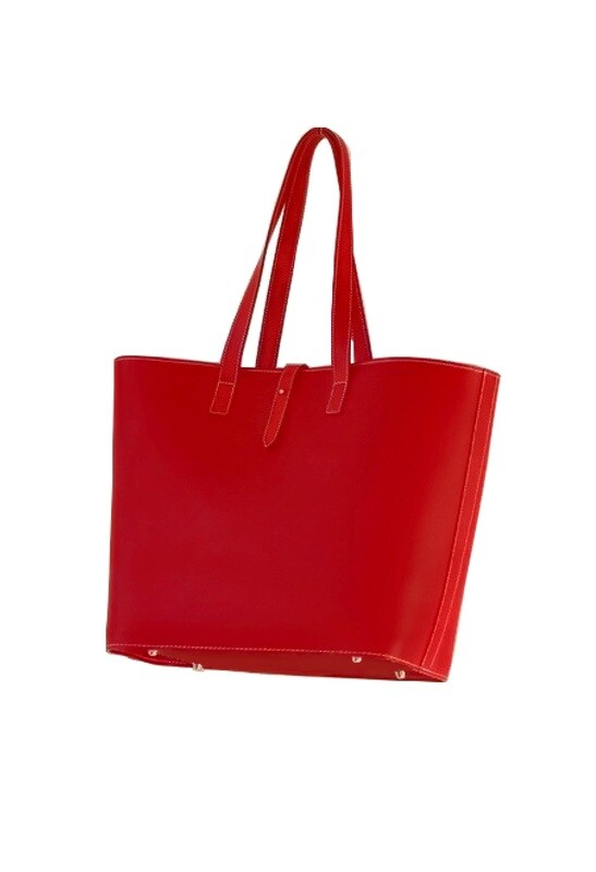 Midipy Leather Cabas (French Basket) Red Size S