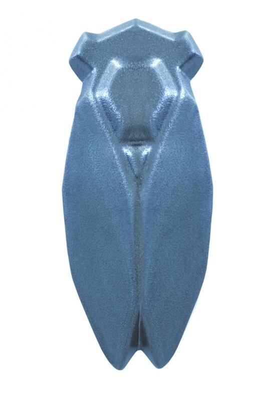 Louis SicardEarthenware Steel Blue  Cicada Evocation