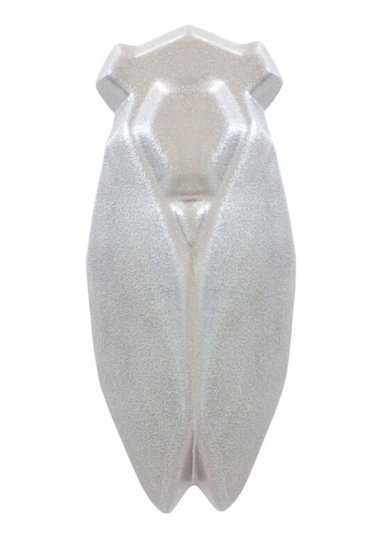 Louis SicardEarthenware Silver Cicada Evocation