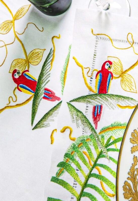 RN Renaissance Paris  Linen Jungle tablecloth,Nature
