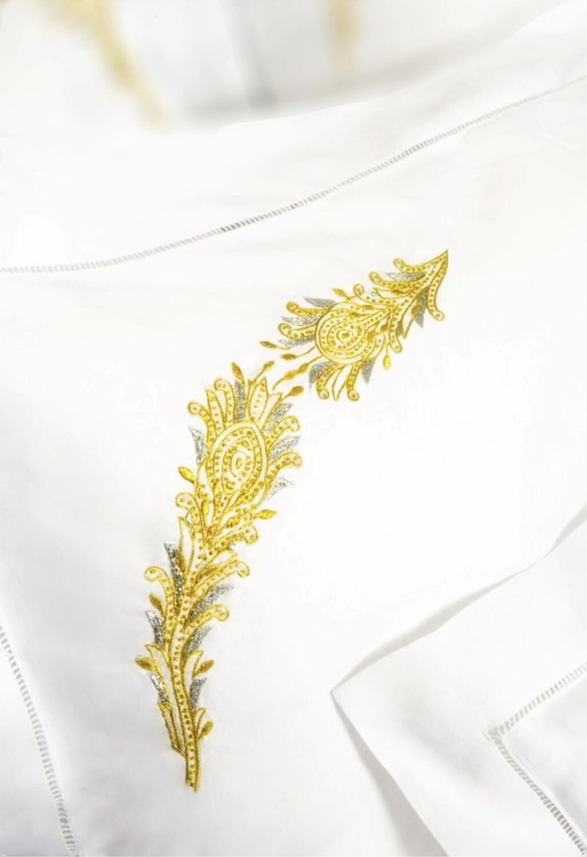 RN Renaissance Paris Bedsheet Paon Royal Cotton Percale