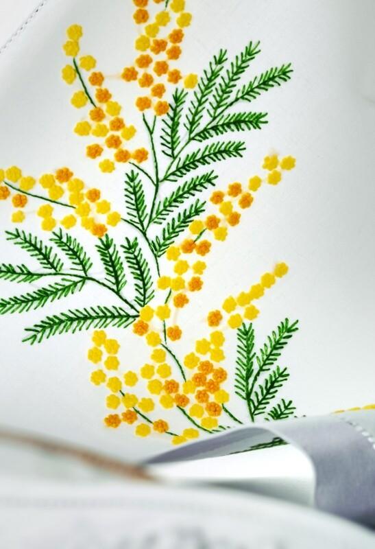 RN Renaissance Paris Linen Mimosa Tablecloth