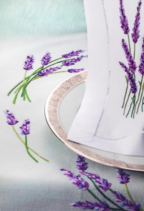 RN Renaissance Paris 100% Linen Provence Tablecloth,Nature Inspiration