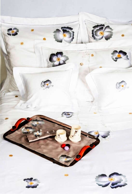 RN Renaissance Paris Bundle of French Luxery Bed Linen Corolles