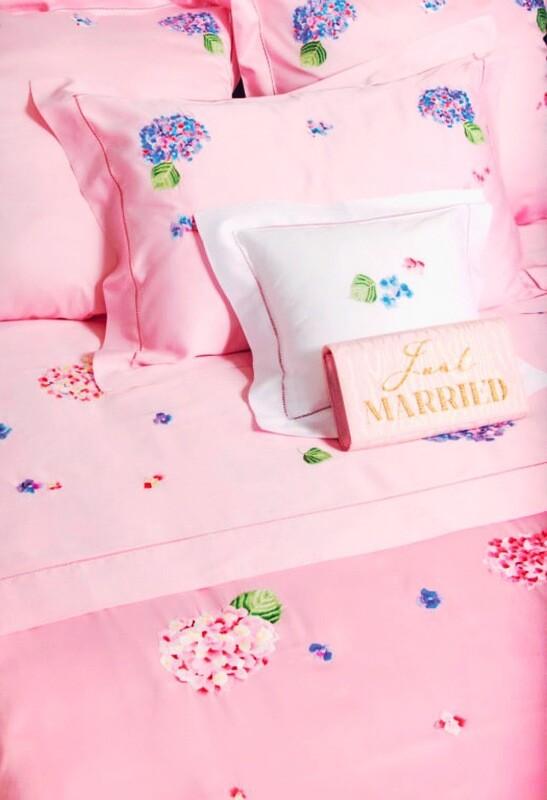 RN Renaissance Paris Bundle of Bed Linen Hortensias Rose