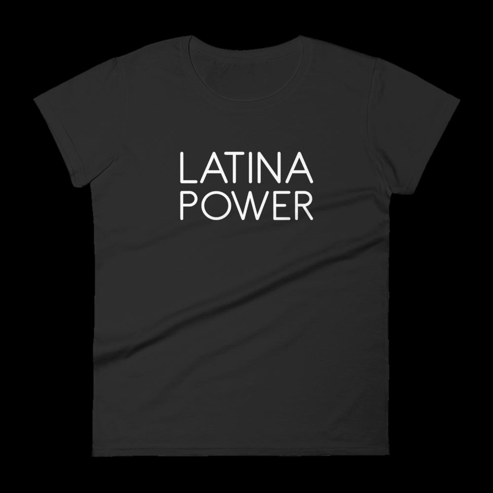 Latina Power 'Slim Fit' Tee (Black or Grey)