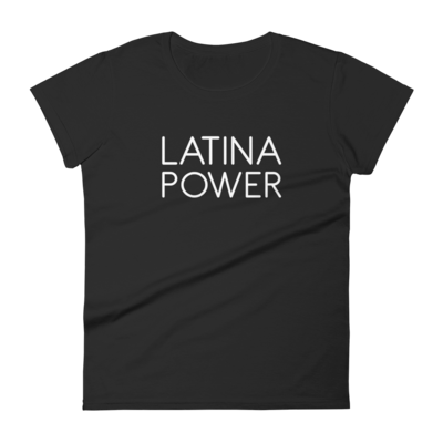 Latina Power 'Slim Fit' Tee (Black or Grey)