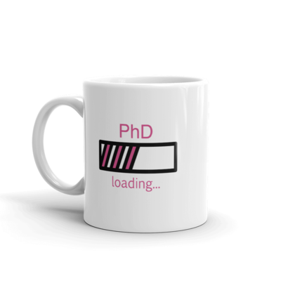 PhD Loading Mug (Hot Pink 11oz)