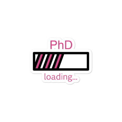 PhD Loading Sticker (Hot Pink)