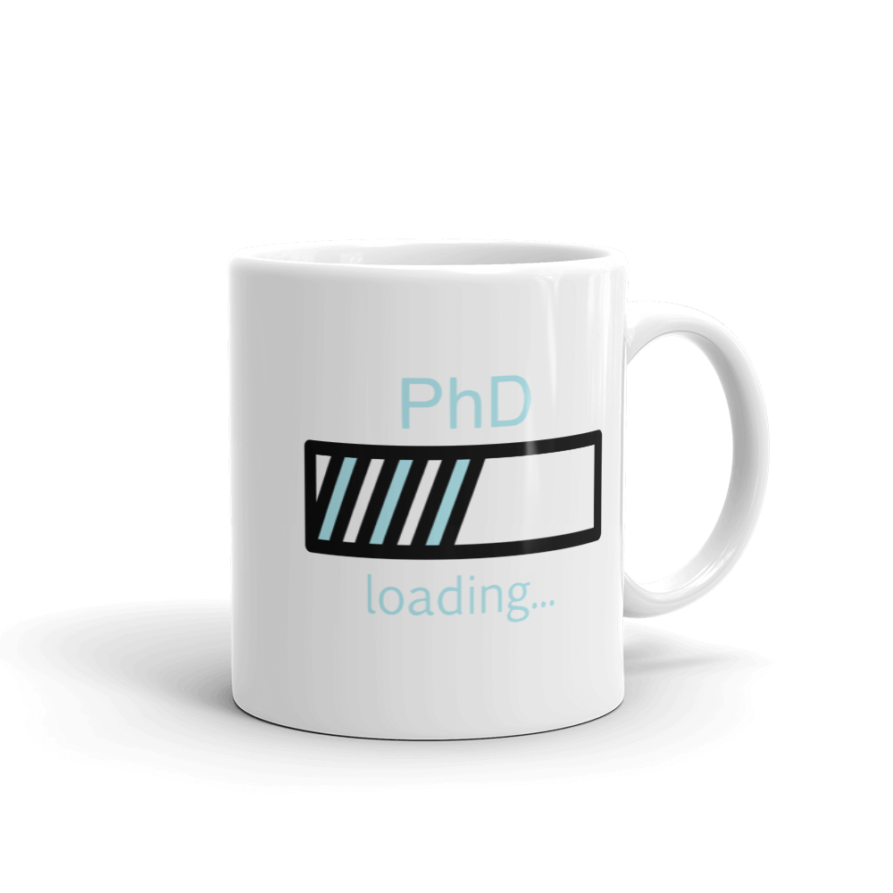PhD Loading Mug (Blue 11oz)
