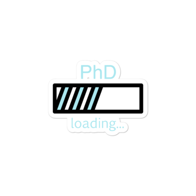 PhD Loading Sticker (Blue)