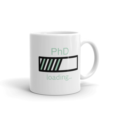 PhD Loading Mug (Mint 11oz)
